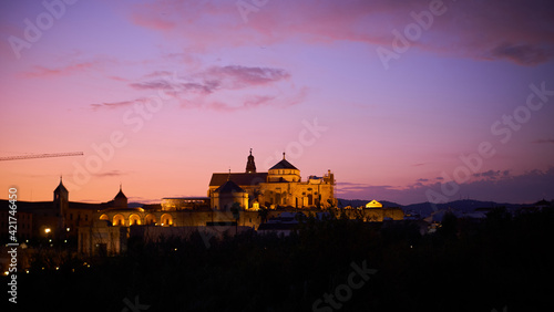Sunset View Of Cordoba's Mosque Cathedral