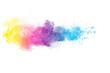 Leinwandbild Motiv Colorful Powder Explosion Against White Background