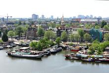 Blick Auf Amsterdam Von Der Stadtbibliothek
