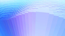 Abstract Purple Blue Geometric Background With Many Cuboids, 3D Render Technology Illustration.
