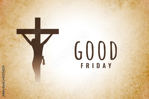 Fotografie, Tablou good friday background with jesus christ crucifixion