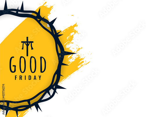 Obraz good friday background with crown of thorns - fototapety do salonu