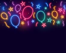 Ballons Stars And Confetti Celebration Birthday Background