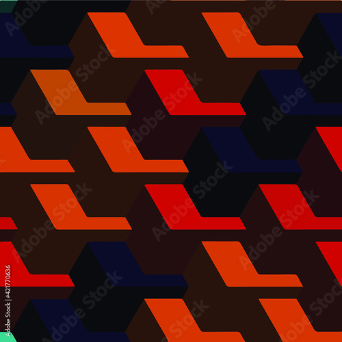 Fotografia Geometric vector pattern with triangular elements