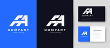 Flat Minimal Initial FA Logo With Premium Business Card Design Vector Template For Your Company Business