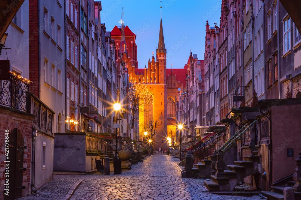 Fototapeta Mariacka street in Gdansk Old Town, Poland