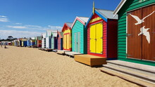 Colourful Beach Huts Near Melbourne