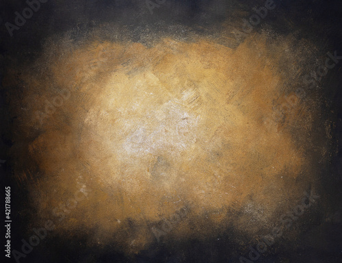 Fototapeta Painted background texture as abstract wall surface. Artistic painting background of paint canvas obraz