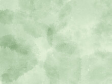 深い緑色の水彩画の背景、森、木、山のイメージ