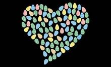 Easter Egg - Colorful Easter Egg - Heart Easter Egg Vector And Clip Art