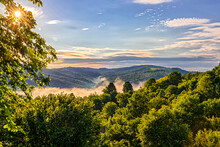 Amazing Morning View Of Middle Stara Planina Moumtains, Near Tryavna, Bulgaria