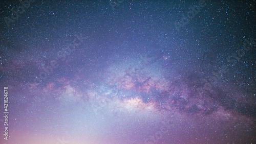 Obraz na plátně Low Angle View Of Stars In Sky At Night