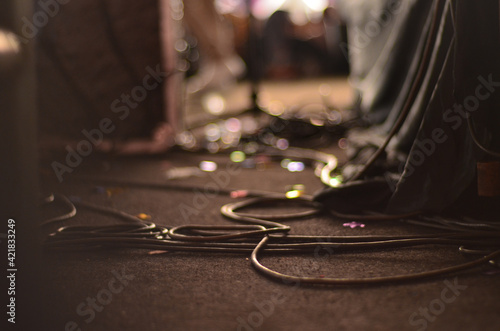 Foto Surface Level Of Cable On Floor