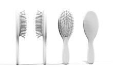 Hairbrush Mockup Isolated On A White Background - 3D Render
