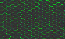 Abstract Background With Green Beehive Patterns