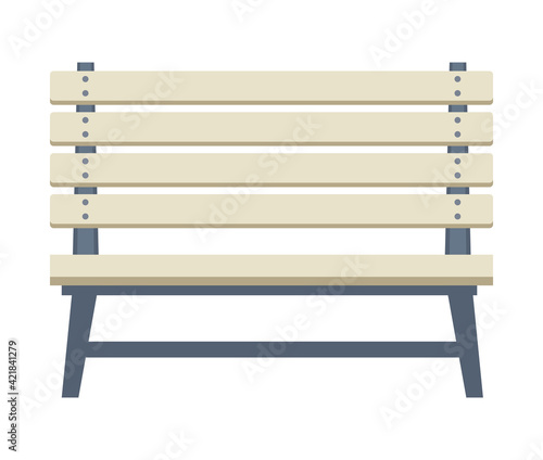 Obraz park chair icon - fototapety do salonu
