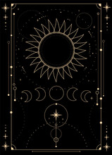 Mystical Esoteric Composition Of The Sun, Moon And Stars