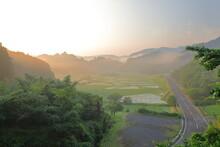 田染荘の春の夜明け
