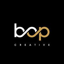 BOP Letter Initial Logo Design Template Vector Illustration