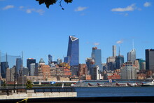 Amazing View Of New York From The Opposite Shore. Hoboken Area