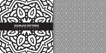 Classic Batik Seamless Pattern Background Geometric Mandala Wallpaper. Elegant Traditional Floral Motif