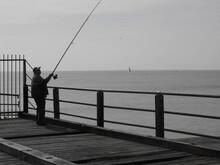 Black And White Fishing