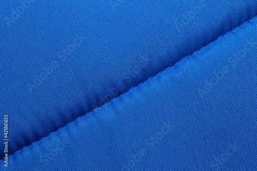 Fototapeta Blue Synthetic Fabric Close up Background obraz