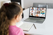 Child Video Videoconference Call On Laptop