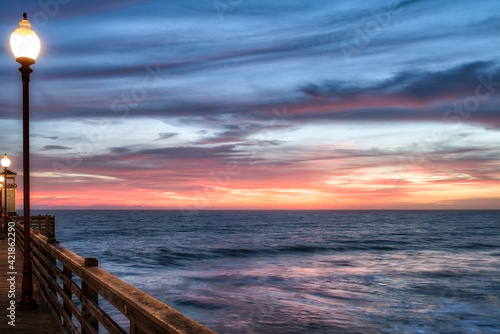 Photo Sunset view from Oceanside Pier