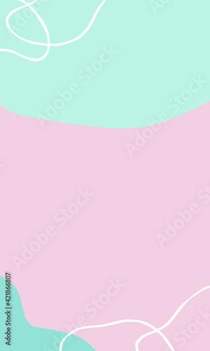 Minimalistyczne abstrakcyjne pastelowe kolorowe tło graficzne.
