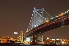 The Benjamin Franklin Bridge, In Philadelphia Pennsylvania River