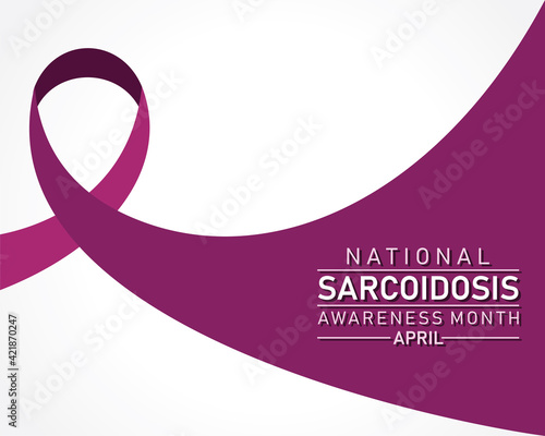 National Sarcoidosis Awareness Month observed in April every year Fototapet