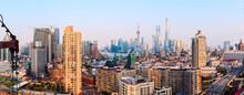 Panoramic View Of Shanghai's Skyline