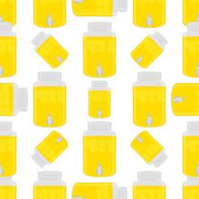 Illustration On Theme Big Colored Lemonade In Lemon Jug