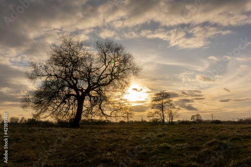 Fototapeta Zachód słońca nad jeziorem Szałe, Pierwszy dzień wiosny, 20.03.21 obraz