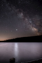 Milky Way Over The Volcanic Lake Of Servière