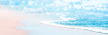 Gentle Wave On Sandy Tropical Seashore - Beach Vacation Background