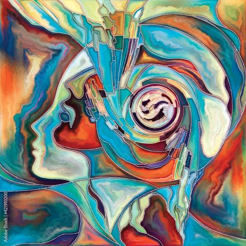Obraz The Flower of Inner Connection - fototapety do salonu