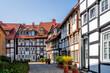 Leinwandbild Motiv Historischer Stadtkern, Guetersloh, Nordrhein-Westfalen, Deutschland