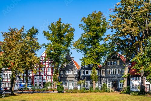 Historischer Stadtkern, Guetersloh, Nordrhein-Westfalen, Deutschland  - fototapety na wymiar
