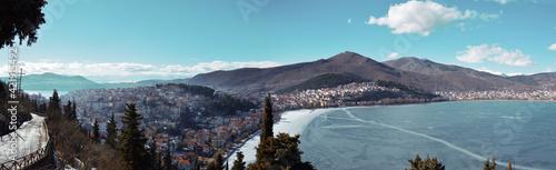 Obraz na plátně View Of Kastoria From The Hill Of Prophet Elias In Kastoria , Greece
