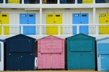 Multi Colored Houses In A Coastal Area
