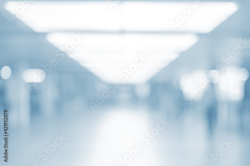 Canvas Blur Abstract Background From Office , Modern Light Spacious Business Room