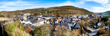 Panorama View To The City Bad Münstereifel. Bad Münstereifel Is A Historical Spa Town In The District Of Euskirchen, Germany