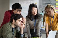 Startup Team Working In Office, Business Teamwork  Planning Meeting