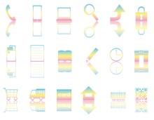 アイコンセット01_32(お店・通販・ショッピングに使える虹色に反射したアイコンセット)