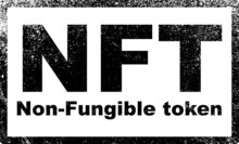 NFT Non - Fungible Tokens Black Stamp Vector. A Non-fungible Token (NFT) Is A Special Type Of Cryptographic Token Which Represents Something Unique.