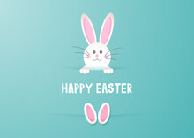 Cute Easter Bunny Background 1903