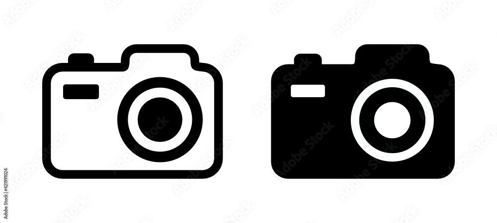 Fototapeta aparat fotograficzny ikona