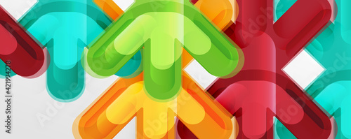 Canvas-taulu Abstract glossy crosses background for business or technology presentations, int